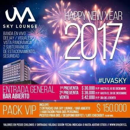 Fiesta año nuevo / UVA Sky Lounge