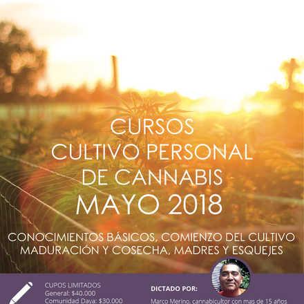 Cursos de Cultivo Personal de Cannabis mayo 2018