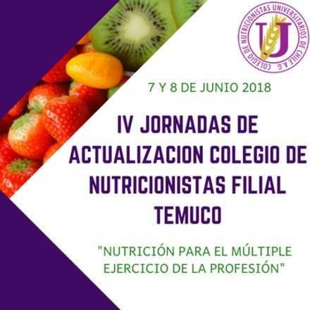 IV Jornadas de Actualización Colegio de Nutricionistas Filial Temuco