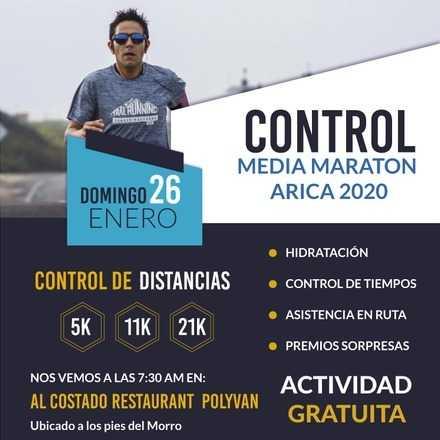 Control Media Maraton Arica 2020