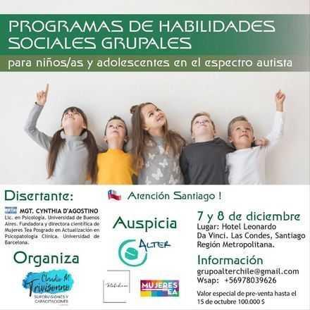 Taller: Programas de Habilidades Sociales Grupales.