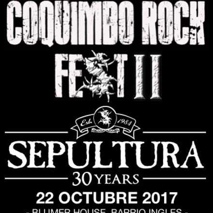Coquimbo Rock Fest II 2017 - Sepultura en Coquimbo