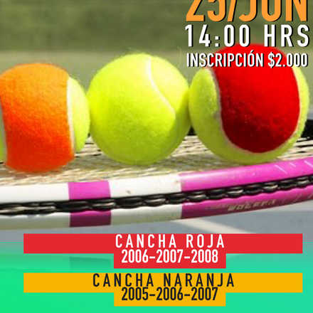 Torneo de Tenis 10, Quillón 2016