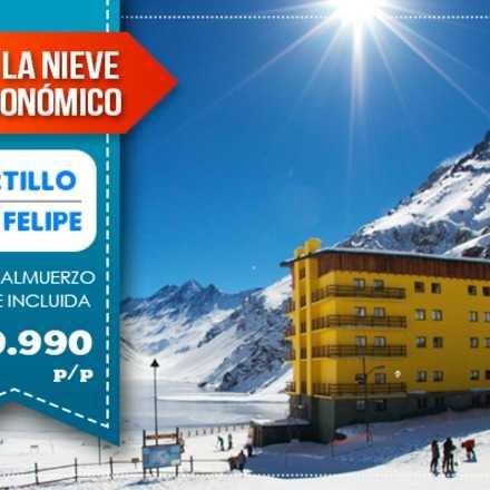 VIAJE A LA NIEVE FULL ECONÓMICO $19.990 p/p Portillo y San Felipe con Almuerzo y Once incluida.