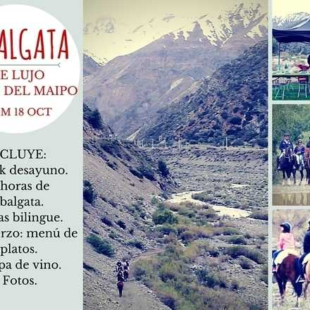¡Cabalgata de lujo en Cajón del Maipo! 18 octubre