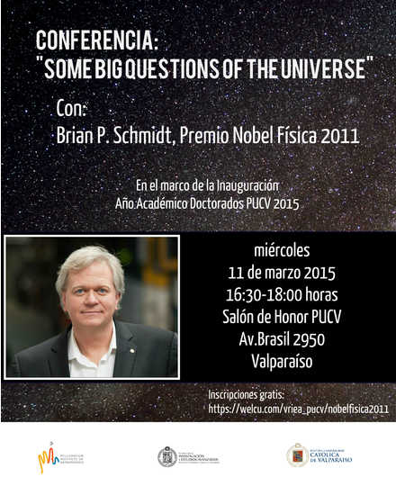 Brian Schmidt, Premio Nobel en Física, en la PUCV. Inauguración Año Académico Doctorados