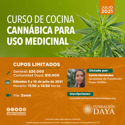 Curso de Cocina Cannábica para Uso Medicinal - julio 2021