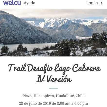 Trail Desafio Lago Cabrera IV Versión
