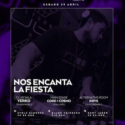 VALENTINA MARTINEZ > Sábado 29.04 Nos encanta la fiesta