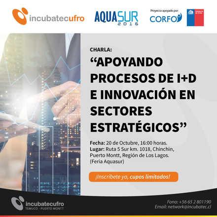 """Charla """"Apoyando Procesos de I+D e Innovación en Sectores Estratégicos"""""""