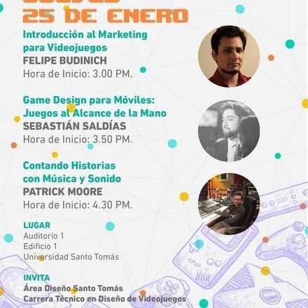 Charlas de Creación  Diseño de Videojuegos  Santo Tomás Valdivia