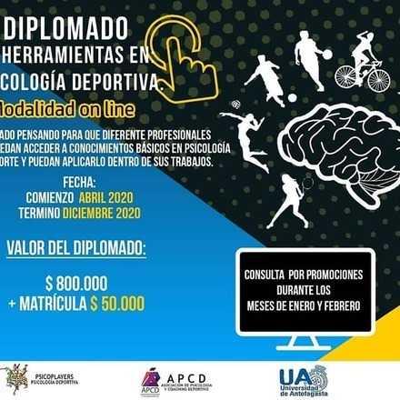 diplomado de herramientas en psicología deportiva, Antofagasta