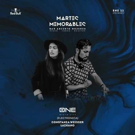 MARTES MEMORABLES 22 DE ENERO // #ONEGROUP // LAZKANO + WEISSER // ROOFTOP DJ PRESS
