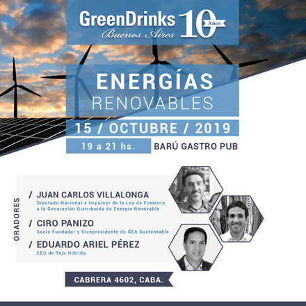 Green Drinks BA 15-10 | Energías Renovables