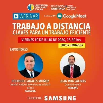 WEBINAR TRABAJO A DISTANCIA: CLAVES PARA UN TRABAJO EFICIENTE