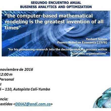 SEGUNDO ENCUENTRO ANUAL  BUSINESS ANALYTICS AND OPTIMIZATION