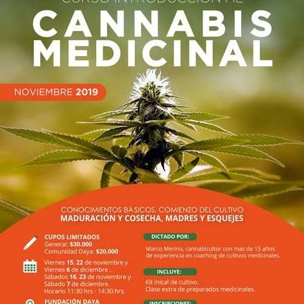 Curso Introductorio al Cannabis Medicinal Noviembre 2019