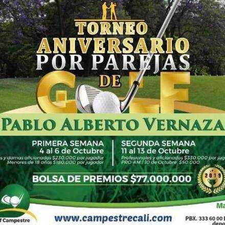 TORNEO ANIVERSARIO DE GOLF- PABLO ALBERTO VERNAZA. - POR PAREJAS
