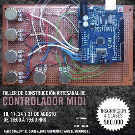 Taller de construcción artesanal de Controlador MIDI y su uso en la creación musical - Gabriel Toro