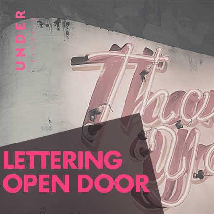 Lettering Open Door