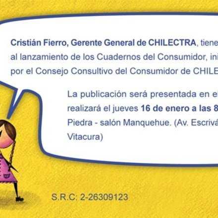 Invitación al Lanzamiento Cuadernos del Consumidor de Chilectra