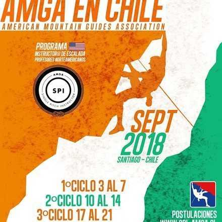 CERTIFICACION  INTERNACIONAL INSTRUCTOR DE ESCALADA - SPI-AMGA CHILE 2018