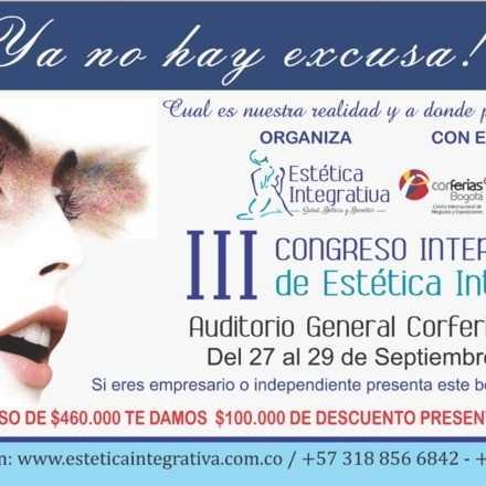 III CONGRESO INTERNACIONAL DE ESTETICA INTEGRATIVA