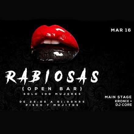 MARÍA IGNACIA CROQUEVIELLE > Martes 16.05 Rabiosas [Open Bar]
