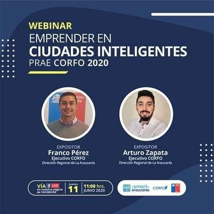 Emprender en ciudades inteligentes - PRAE CORFO 2020