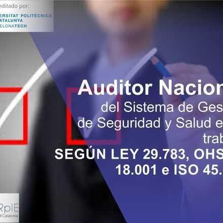 AUDITOR NACIONAL DEL SISTEMA DE GESTIÓN DE SEGURIDAD Y SALUD EN EL TRABAJO SEGÚN LA LEY N 29.783, OHSAS 18.001 e ISO 45.001