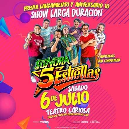 Sonora 5 Estrellas en Teatro Cariola