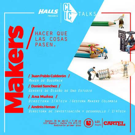 CLIC Talks - Makers (Evento Gratuito)