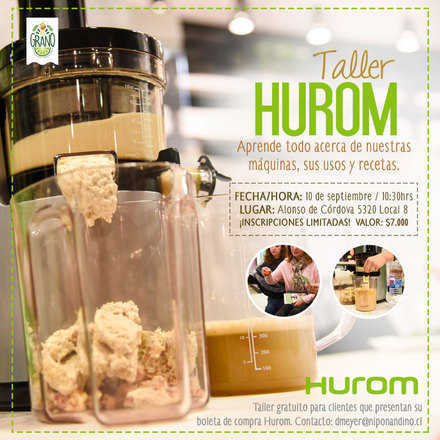 Taller Hurom 10 Septiembre