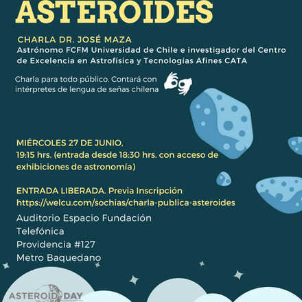 "Charla Pública ""Asteroides"""