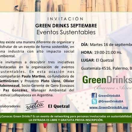 Green Drinks Buenos Aires / Eventos Sustentables