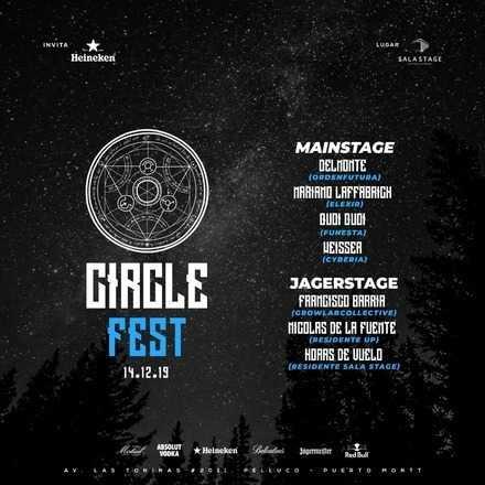 Inicio Ciclo de fiestas // Circle Fest // 14.12.19 // $3.000 S.COVER // $5.000 C.COVER
