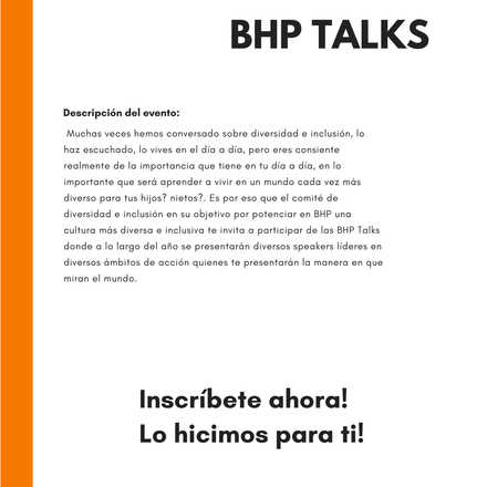 BHP Talks