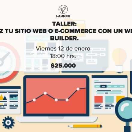 Taller: Haz tu sitio web o e-commerce con un Web Builder.