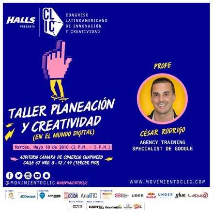 TALLER PLANEACIÓN Y CREATIVIDAD EN EL MUNDO DIGITAL