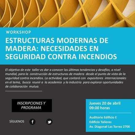 """Workshop """"Estructuras Modernas de Madera: Necesidades en Seguridad contra Incendios"""""""