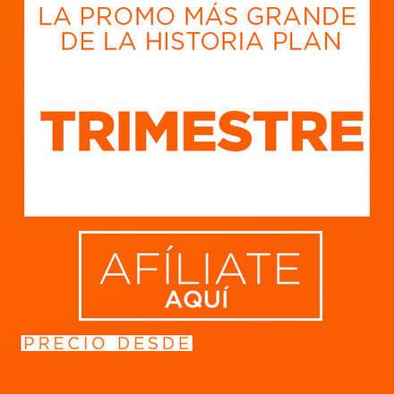 AFILIACIÓN TRIMESTRE 20% dcto. + 7 DÍAS ADICIONALES