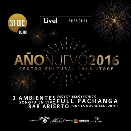 Live Socialbar! presenta ➱ AÑO NUEVO 2016 en Centro Cultural Sala Stage