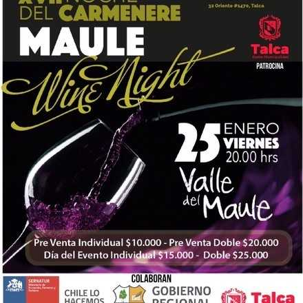 """XVII Noche del Carmenere Maule """"Wine Night"""""""