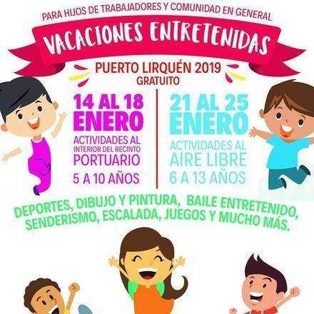 VACACIONES ENTRETENIDAS PUERTO LIRQUEN 2019