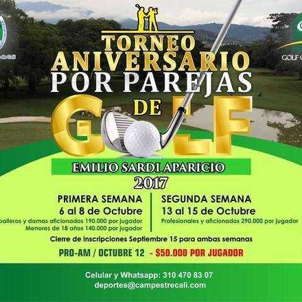 TORNEO ANIVERSARIO DE GOLF- EMILIO SARDI A. - POR PAREJAS