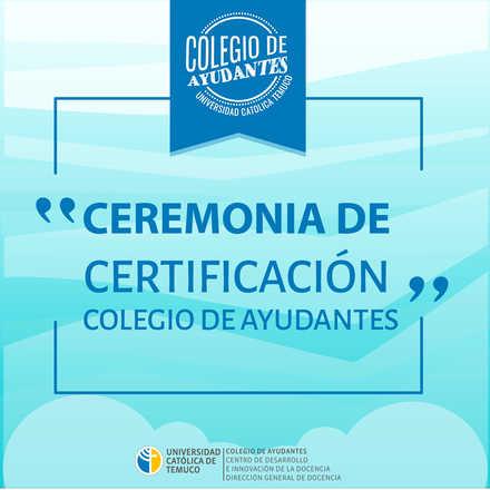 Cuarta Ceremonia de Certificación de ayudantes y tutores-pares