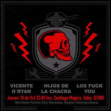 Vicente O´ryan - Hijos de la Chacra - Fuck You en Vivo 18 de Octubre