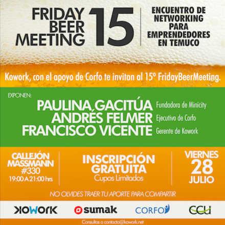 15º Friday Beer Meeting Encuentro de Networking para Emprendedores