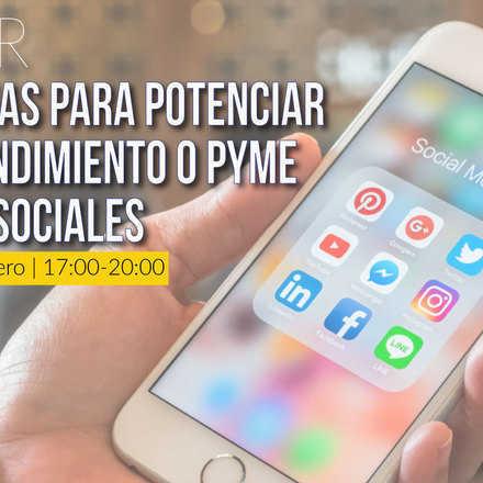 Taller: Estrategias para potenciar tu Emprendimiento o Pyme en redes sociales