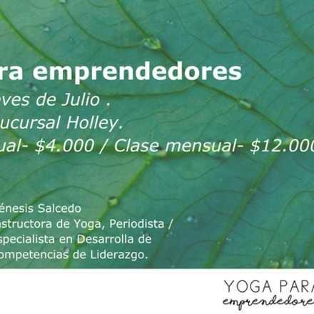 Curso: Yoga para Emprendedores - Julio